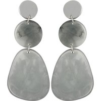 Grey Resin Statemtent Earrings - Grey