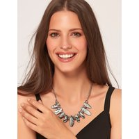 Ladies snake print necklace  - Silver