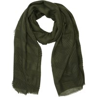 Ladies lightweight chevron scarf  - Khaki