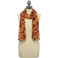 Chain Print Scarf Lightweight - Rust