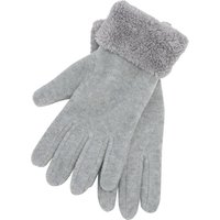 Faux Fur Fleece Gloves - Light Grey