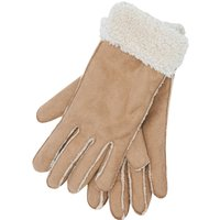 Faux Sheepskin Gloves - Beige