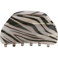 Hair Clip In Claw Design With Zebra Print Pattern - Multicolour
