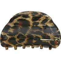 Hair Clip In Claw Design With Animal Print - Tortoise Brown