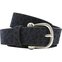 Belt With Blue Cheetah Print Spot Pattern - Navy