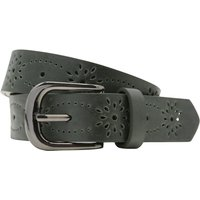 Belt With Intricate Cut Out Design And Khaki Colour - Khaki