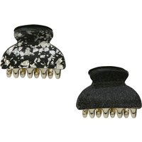 Bulldog Hair Clips Two Pack - Black