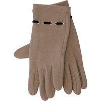 Camel Glove With Eyelet Design - Camel