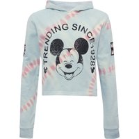 Disney Mickey Mouse teen girl cotton long sleeve cropped tie dye hoody  - Blue