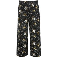 Teen Girls Floral Print Culotte Trousers Cropped length lightweight stretch elasticated high waist