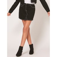 Teen girl denim skirt high waisted  - Black