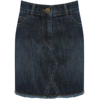 Teen girl denim skirt high waisted  - Denim Blue