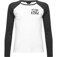 Teen girl Cool to be Kind slogan top  - Charcoal
