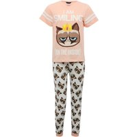 Grumpy Cat teen girl short sleeve t-shirt character print t-shirt cuffed ankle trousers pyjama set