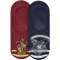 Teen girl cotton rich Harry Potter Hogwarts crest Gryffindor emblem footsies two pack  - Multicolour