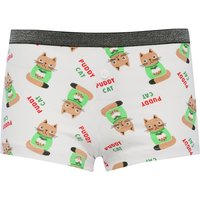 Click to view product details and reviews for Teen Girl Cotton Stretch Elasticated Waist Christmas Cat Boxer Briefs Multicolour.