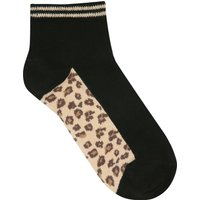 Teen girl leopard socks  - Black