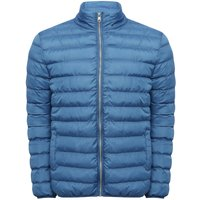 Mens long sleeve funnel neck insulated zip front winter padded jacket  - Cobalt