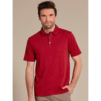 Mens plain short sleeve polo shirt  - Red