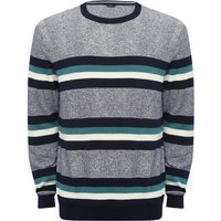 Click to view product details and reviews for Mens Jumper with Crew Neck and Striped Pattern Grey.