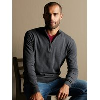 Click to view product details and reviews for Mens Half Zip Neck Cotton Jumper Grey.