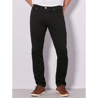 Mens black denim slim fit jeans classic button zip fly five pocket styling  - Black