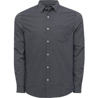 Mens geo print shirt navy  - Navy
