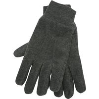 Mens Thinsulate Plain Grey Cosy Fleece Thermal Lined Ribbed Cuff Essential Winter gloves  - Charcoal