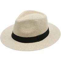 Mens straw panama hat  - Natural