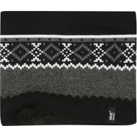 Heat Holders mens neck warmer with cosy fairisle knit outer and soft fleece lining  - Black
