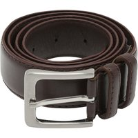 Mens Plain Brown Belt Leather Look Two Sizes Smart or Casual  - Brown