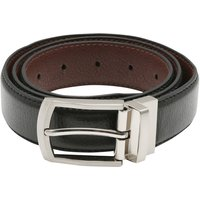Men's reversible two in one classic belt black and brown leather look  - Multicolour