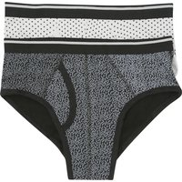 Mens Bamboo blend briefs two pack  - Grey