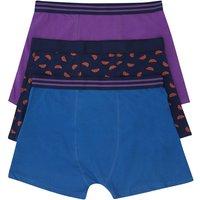 Mens Tangerine printed trunk set - three pack  - Blue
