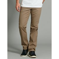 Mens Straight leg stretch classic style casual cotton chino trousers  - Beige