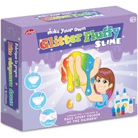 Make Your Own Glitter Fluffy Slime