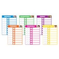 Daily Schedule Wall Charts x 6