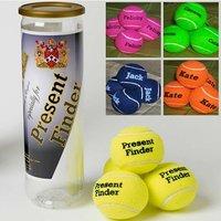Personalised Tennis Balls- set of 8 - Tennis Gifts