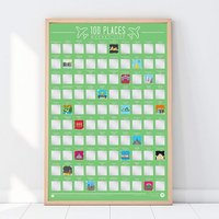 100 Places Scratch Off Bucket List - The Present Finder Gifts