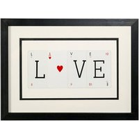 Vintage Playing Cards Love Frame - Playing Cards Gifts
