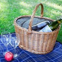 Oval Picnic Basket with Tweed Cooler Bag - Picnic Gifts