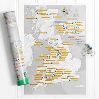 Great British Cycling Scratch Off Poster - The Present Finder Gifts