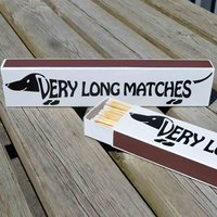 Dachshund Design - Very Long Matches - Dachshund Gifts