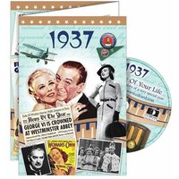 DVD Greeting Card 1937 or 80th Birthday - 80th Birthday Gifts