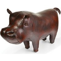 Handmade Leather Hippo - Standard - Hippo Gifts