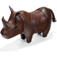 Handmade Leather Rhino - Small - Handmade Gifts