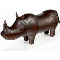 Handmade Leather Rhino - Large - Handmade Gifts