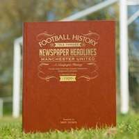 Personalised Football History Book - Books Gifts
