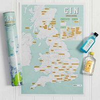 Great British Gin Scratch Off Poster - The Present Finder Gifts