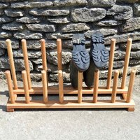 Handmade Oak Family Welly Boot Rack - Handmade Gifts